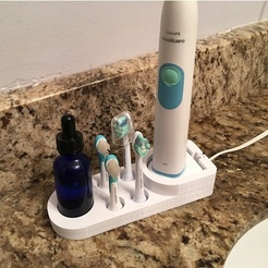 Station for the Sonicare toothbrush - short