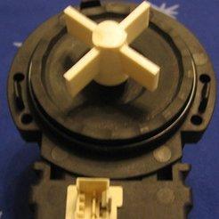 Washing machine drain pump impeller