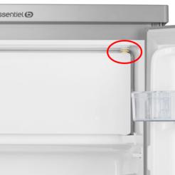 Axe supérieur de la porte du freezer