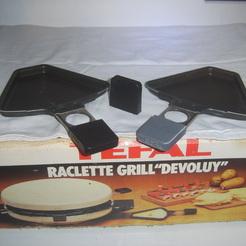"""Manche pour raclette TEFAL """"grill DEVOLUY""""."""