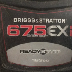 Briggs&Stratton 675 EXI air filter cover