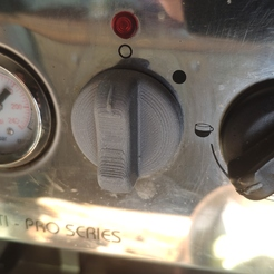 Coffee machine button