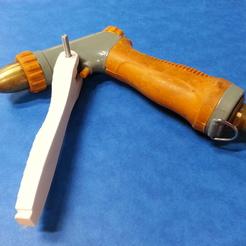 Gardening gun lever