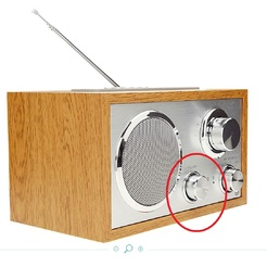 volume knob for analogic radio EssentielB Madera BT