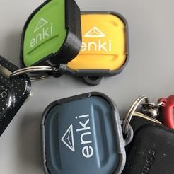 Porte clé bouton Enki